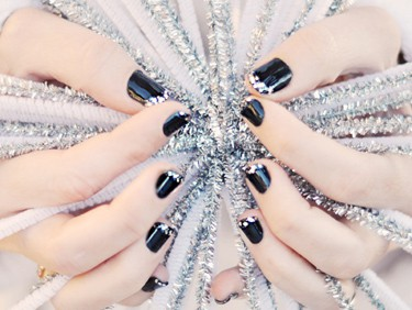 Faux diamond tipped nails - Love Maegan