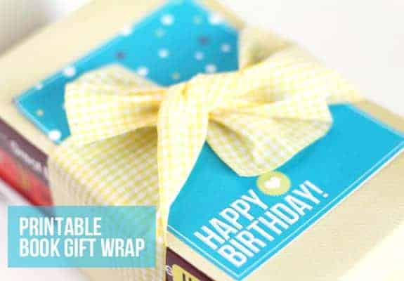 How To Make A Book Cover With Gift Wrap : Diy printable book gift wrap hello glow