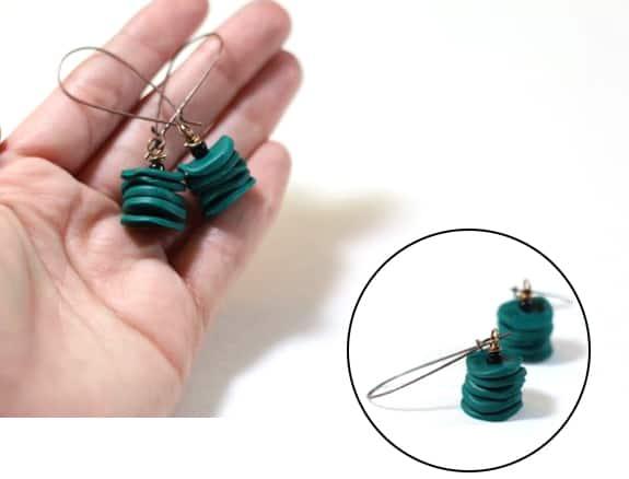 diy clay disc earrings