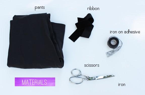 DIY Tuxedo Pants Supplies