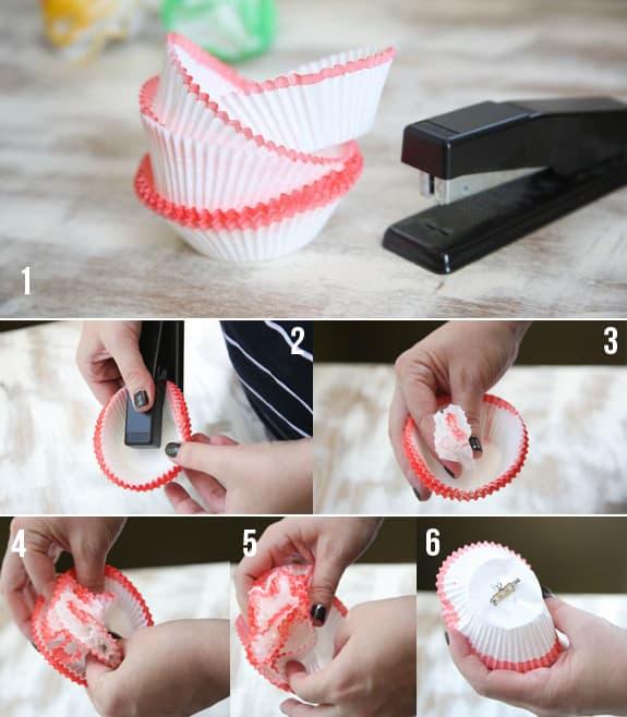 DIY cupcake brooch steps