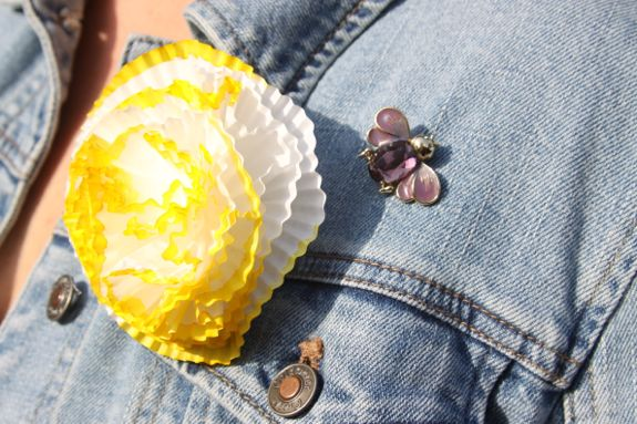 Cupcake Liner Brooch