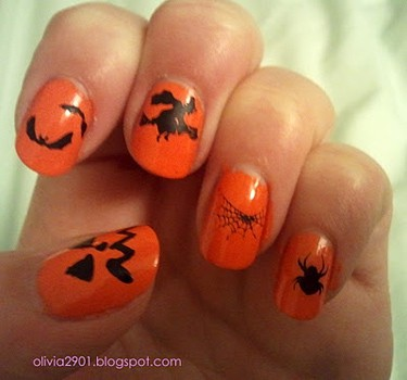 Halloween nails - Olivia Writes