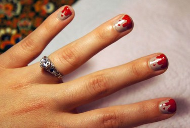 Blood spattered nails - Marie Claire