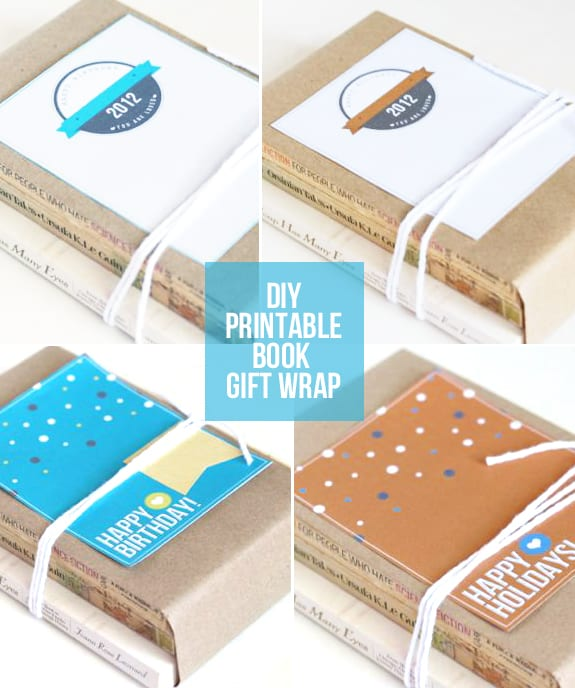 book gift wrap + free printable