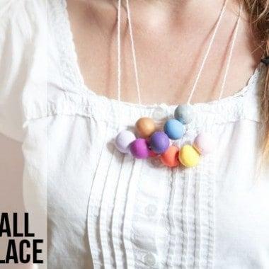 DIY Clay Gumball Necklace