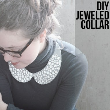 DIY Jeweled Collar