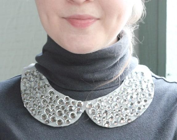jeweled collar diy
