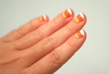 Candy corn nail tutorial - Julie Ann Art