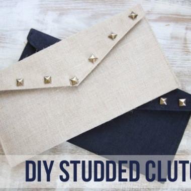 DIY Studded Clutch