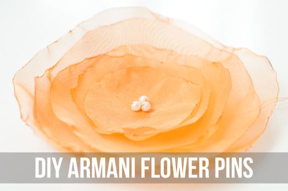 DIY Armani Flower Pins