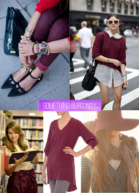 fall essentials something burgundy