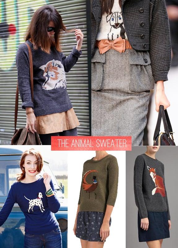 fall essentials animal sweater