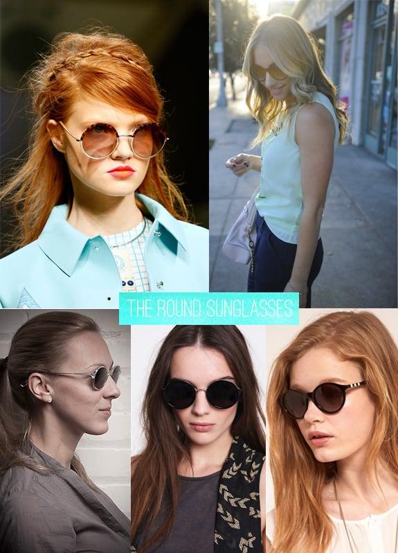 fall essentials round sunglasses