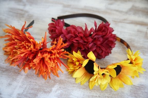 fall flower headbands
