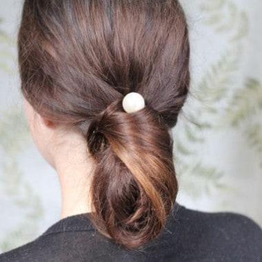 DIY Chanel Chignon + Pearl Bobby Pins