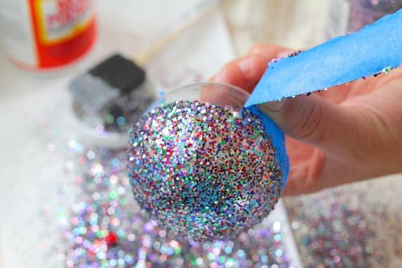 DIY Glitter Ornaments Step 3