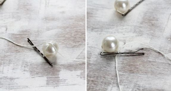 Chanel Inspired Pearl Bobby Pin