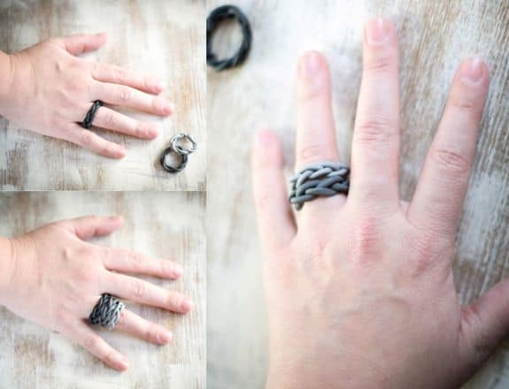 DIY Ombre Clay Rings