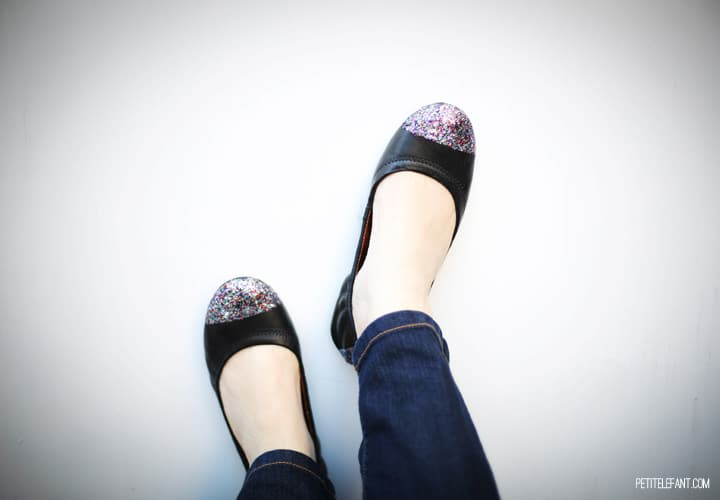 do it yourself glitter shoe