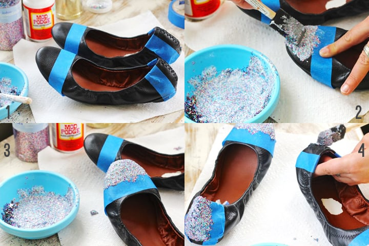make glitter shoes