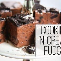 Cookies 'N Cream Fudge + 10 Minute Microwave Brittle