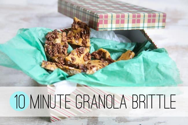 Granola Brittle | 101 Best Christmas Cookies to Make This Year | HelloGlow.co
