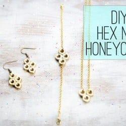 DIY Hex Nut Bracelet