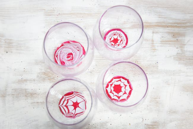 How to make marbled glasses