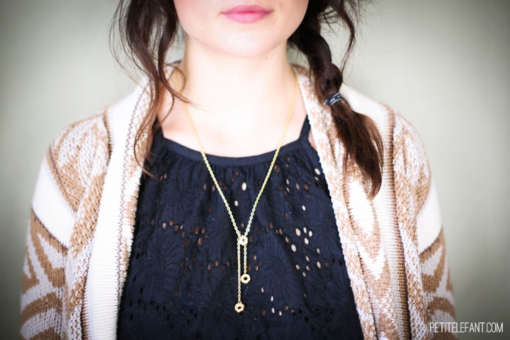 DIY hex nut necklace