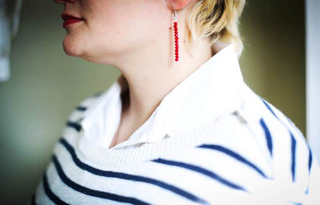 DIY red bead earrings | Henry Happened