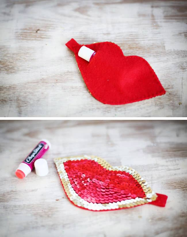 DIY lip gloss Pouch
