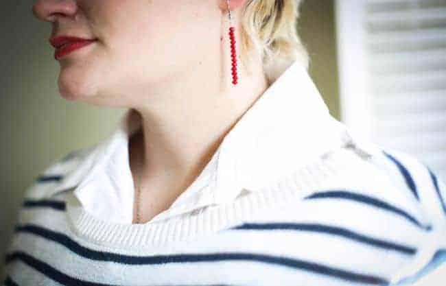 Easy Red Bead Earrings