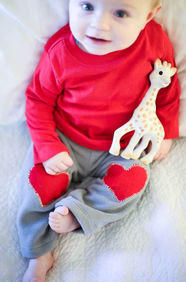 Heart Patches for Baby Pants