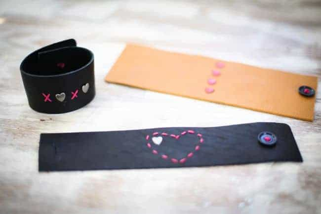 DIY Leather Bracelets for Valentine's Day