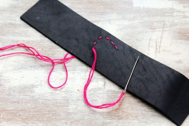 Stitched Leather Bracelet