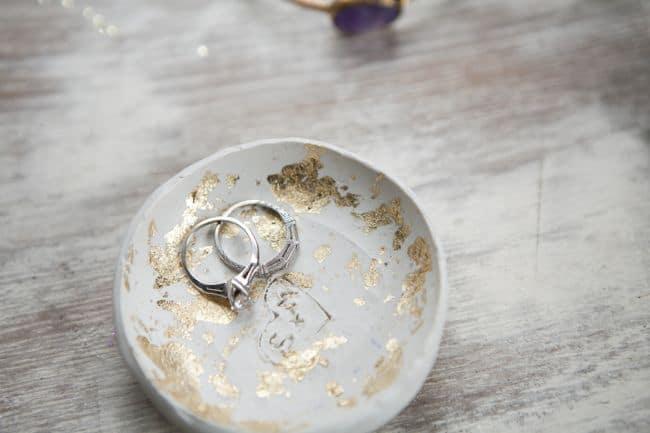Gold Leaf Ring Bowl