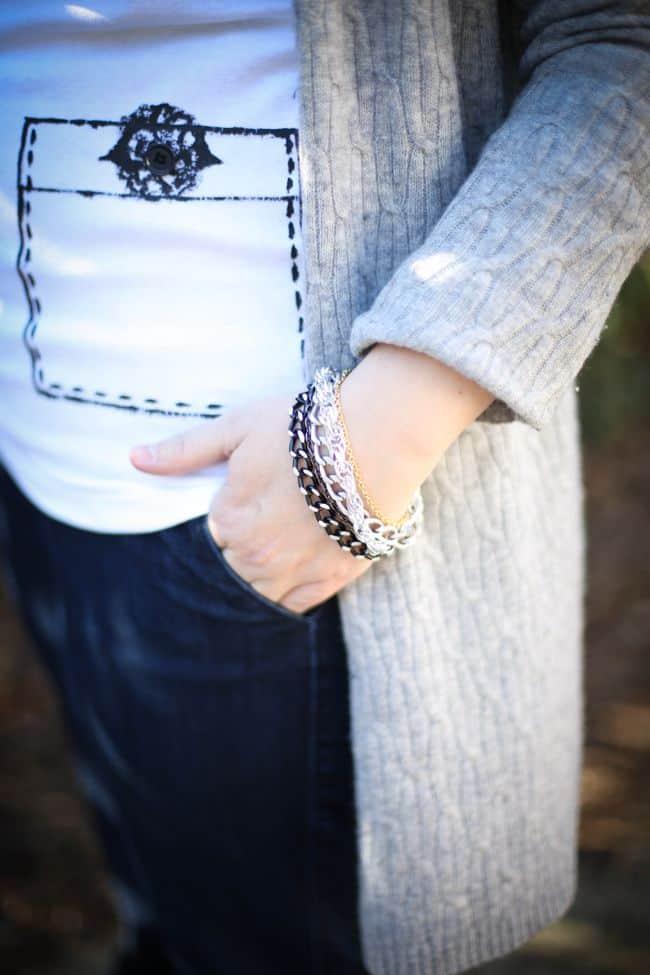 DIY Bracelet with Leftover Chain