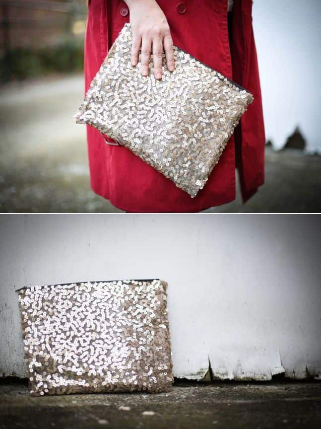 1 Sequin Diy Clutch Yes No Sew Hello Glow