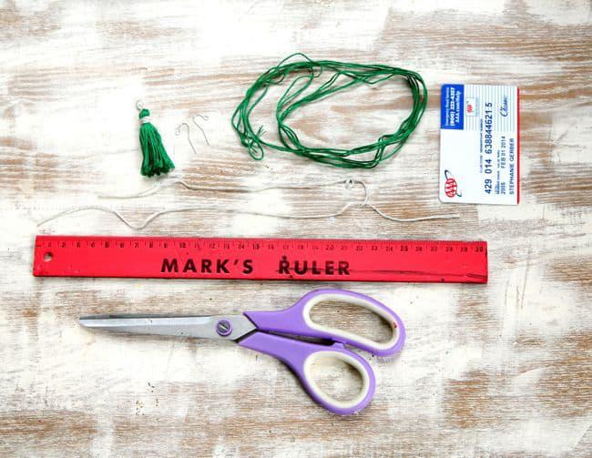 how to make a tassel earring