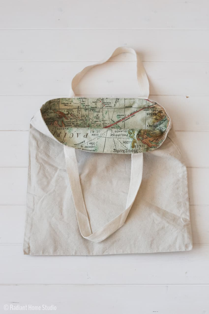 Add a Lining to a Tote Bag from Radiant Home Studio