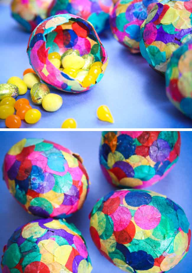 How to Paper Mache Eggs with Confetti