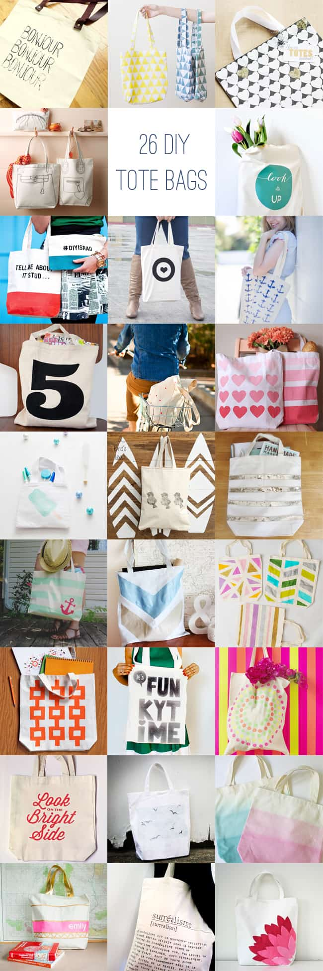 25 Ways to Decorate a Plain Tote Bag | HelloGlow.co
