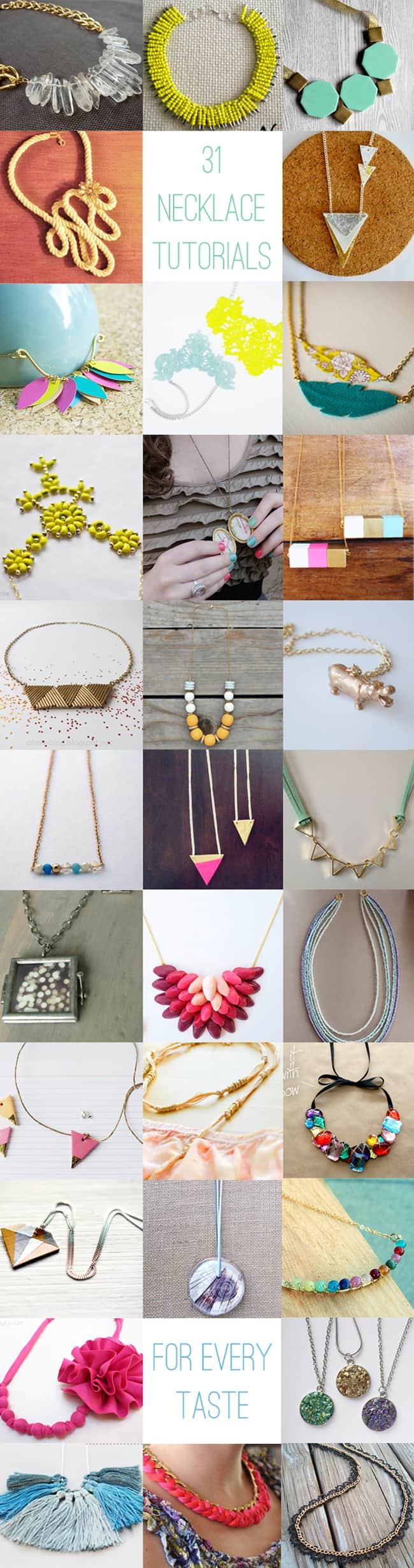 31 DIY Necklace Tutorials