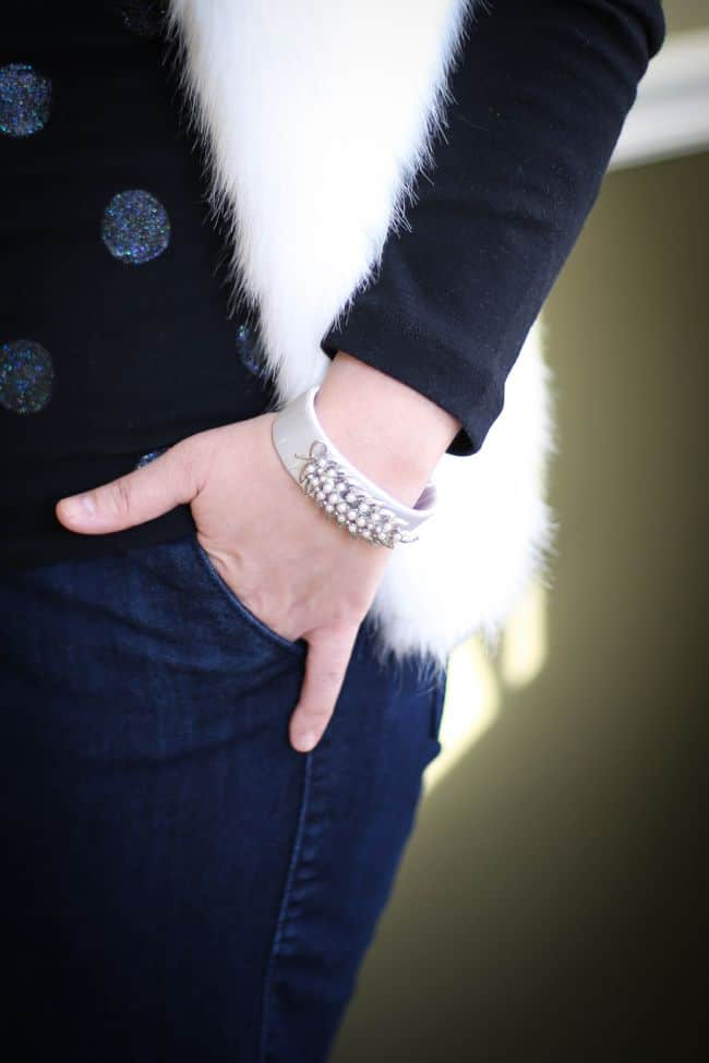 DIY Bracelet with Old Brooches