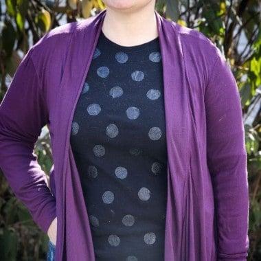 Plain Tee Project | Glitter Polka Dot T-Shirt