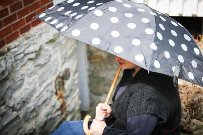 DIY polka dot umbrella - Hello Glow