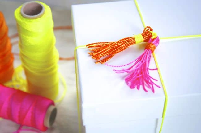 DIY Neon Tassels - Henry Happened