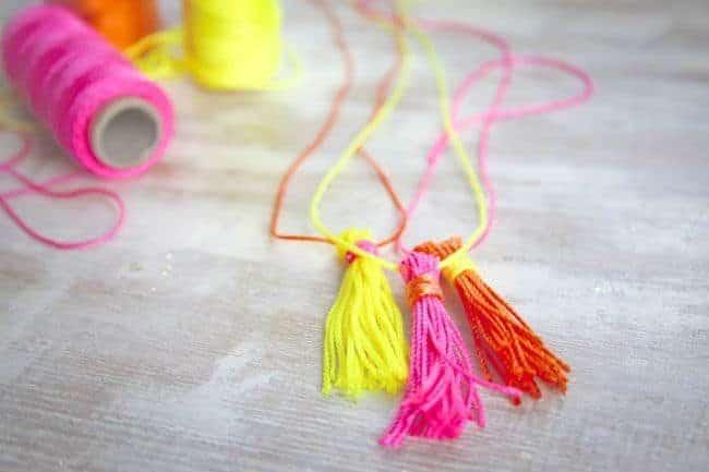 DIY Neon Rope Tassels