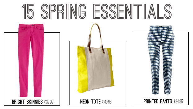 15 Spring Essentials